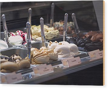 Wood Print featuring the photograph Gelato by Rona Black
