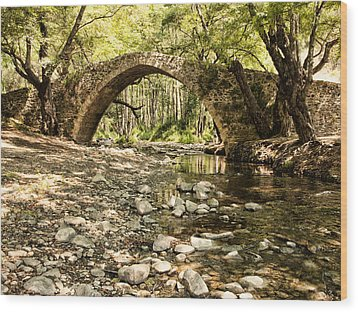 Gelefos Old Venetian Bridge Wood Print