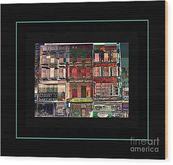 Gem Collection - New York In 1975 - Print Or Card Wood Print by Miriam Danar