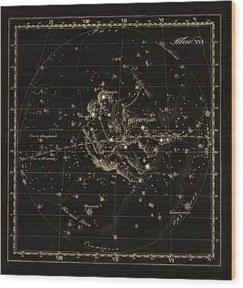 Gemini Constellation, 1829 Wood Print by Science Photo Library