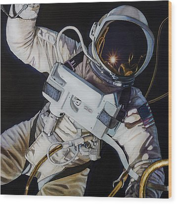 Gemini Iv- Ed White Wood Print by Simon Kregar