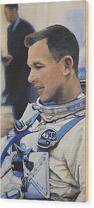 Gemini Viii Dave Scott Wood Print