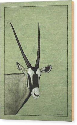 Gemsbok Wood Print by James W Johnson