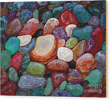 Gemstones Wood Print by Barbara Griffin