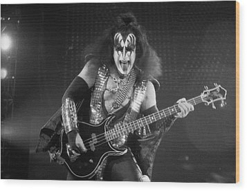 Gene Simmons Wood Print by Timothy Bischoff