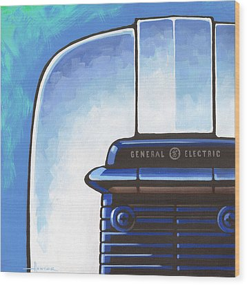 General Electric Toaster - Blue Wood Print