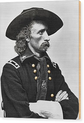 General George Armstrong Custer  Wood Print by Daniel Hagerman