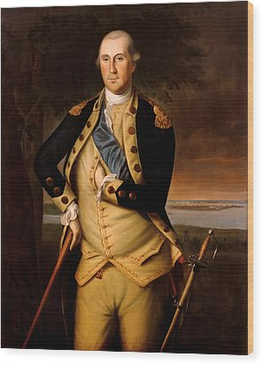 General George Washington  Wood Print by War Is Hell Store
