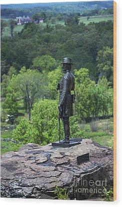 General Kemble Warren At Little Round Top Wood Print by John Greim