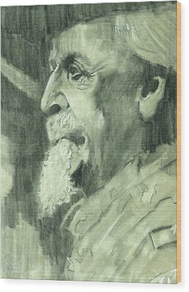 General Lee Wood Print by Luis  Navarro
