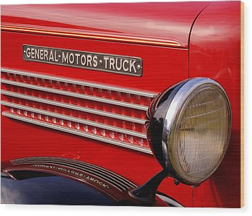 General Motors Truck Wood Print by Thomas Young
