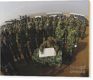 General Peter Pace Signs A Message Wood Print by Stocktrek Images