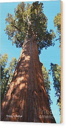 General Sherman Tree, Sequoia National Park, California Wood Print