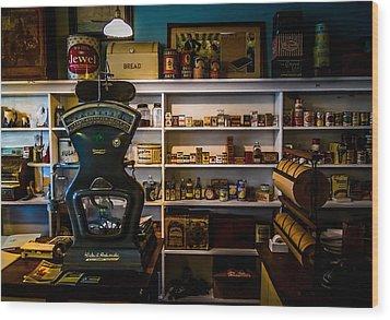 General Store Wood Print by Chuck De La Rosa