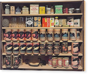 Wood Print featuring the photograph General Store Goods by Vicki DeVico