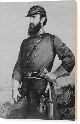 General Thomas Stonewall Jackson Wood Print by Mountain Dreams