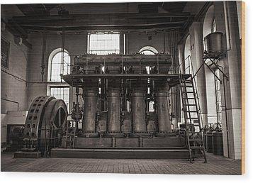 Generator Wood Print by Akos Kozari