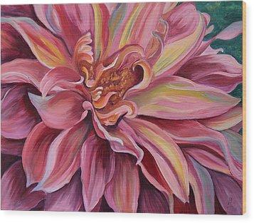 Generous Pink Wood Print