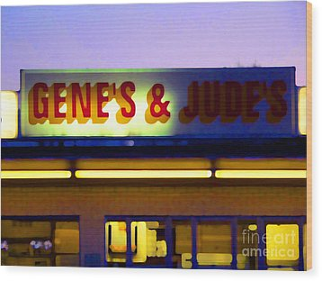 Genes  And Judes Wood Print by David Bearden