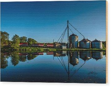 Genesee Mill Wood Print by Randy Scherkenbach