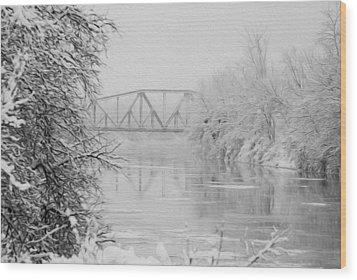 Genesee River Wood Print