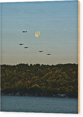 Geneseo Air Show Wood Print