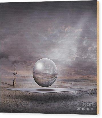 Wood Print featuring the digital art Genesis by Franziskus Pfleghart