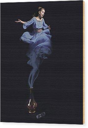 Genie Wood Print by Andre Faubert