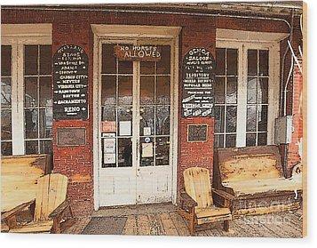 Genoa Saloon Oldest Saloon In Nevada Wood Print