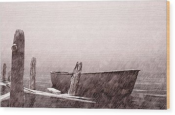 Gentle Current Wood Print by Bob Orsillo