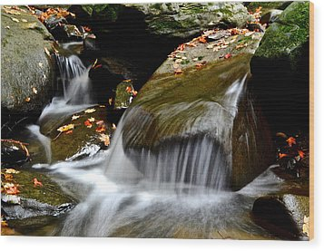 Gentle Falls Wood Print by Frozen in Time Fine Art Photography