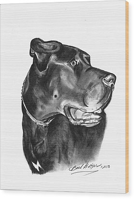 Gentle Giant' Wood Print by Barb Baker