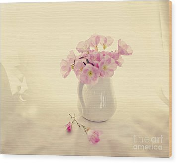 Gentle Light Wood Print by Linde Townsend