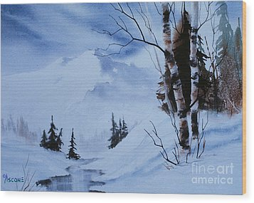 Gentle Mountains Wood Print by Teresa Ascone