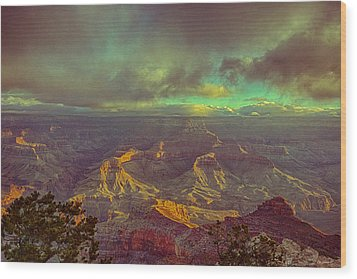 Gentle Sunrise Over The Canyon Wood Print by Lisa  Spencer