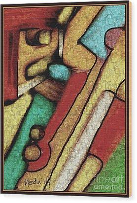 Geometrca 292 Wood Print by Nedunseralathan R