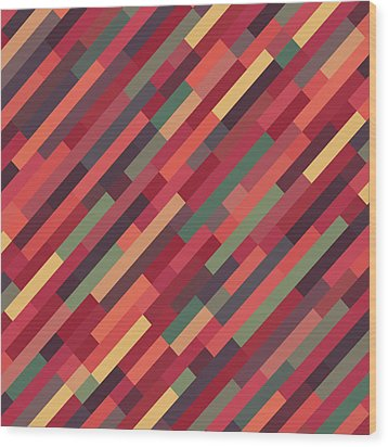 Geometric Block Wood Print by Mike Taylor