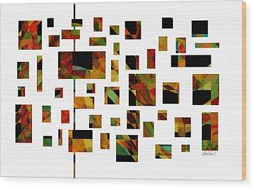 Geometric Design - Abstract - Art Wood Print by Ann Powell
