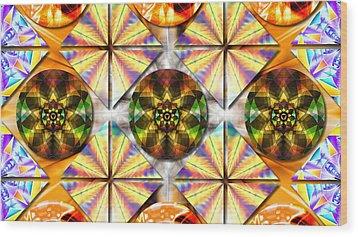 Geometric Dreamland Wood Print by Derek Gedney