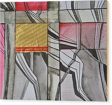Geometric Fields Wood Print by Shirley Devon