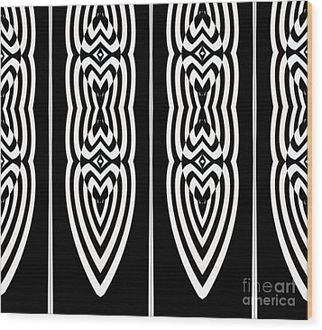 Pattern Geometric Black White Art No.337. Wood Print by Drinka Mercep