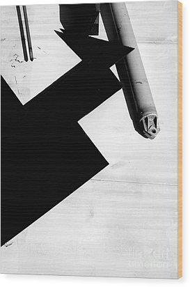 Geometric Shadow Wood Print by Robert Riordan