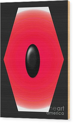Geometric Shape Abstract 9 Wood Print by Tina M Wenger