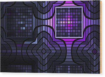 Wood Print featuring the digital art Geometric Stained Glass by GJ Blackman