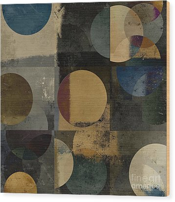 Geomix 01 - 111bt2a Wood Print by Variance Collections