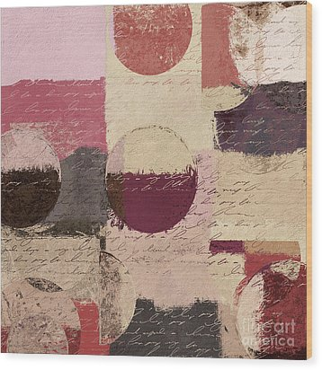 Geomix 01 - C19a2sp5ct1a Wood Print by Variance Collections