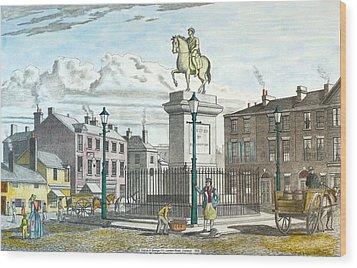 George 111 Statue Liverpool Wood Print