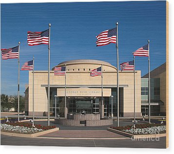 George Bush Presidential Library - College Station Texas Wood Print