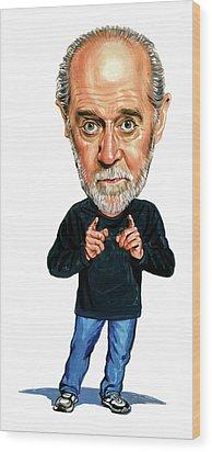 George Carlin Wood Print by Art
