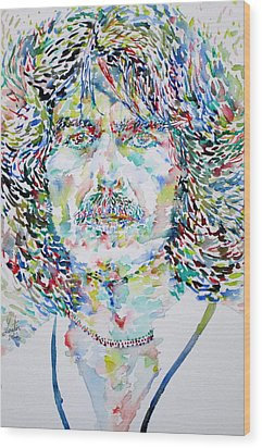 George Harrison Portrait.2 Wood Print by Fabrizio Cassetta